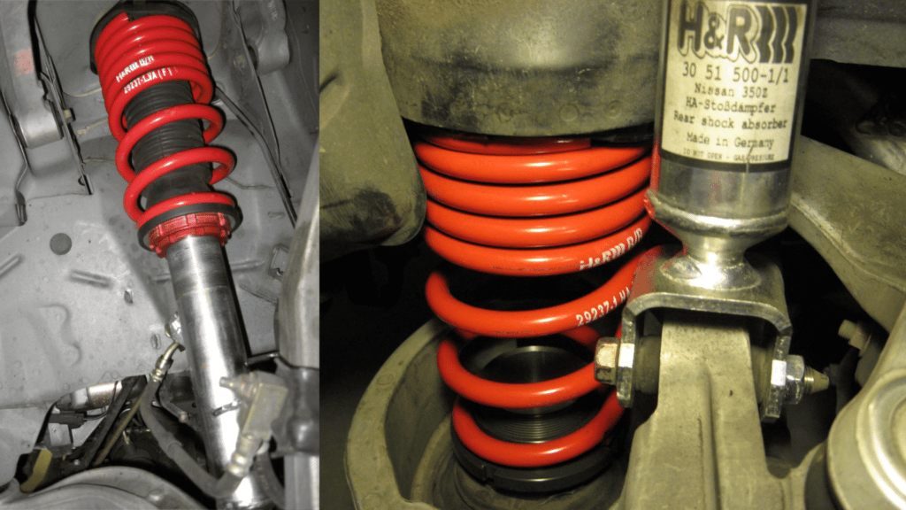 H&R Street Performance Coilovers Installed on a Nissan 350z