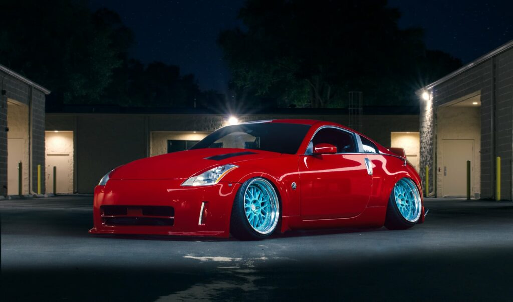 Lowered Nissan 350z