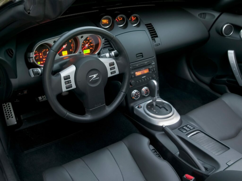 Nissan 350z Touring model has electric leather seats