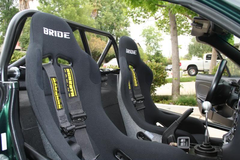 Bride Zeta Race Seat in a Miata