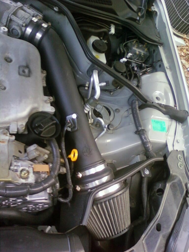 aFE Takeda cold air intake fitted on Infiniti G35