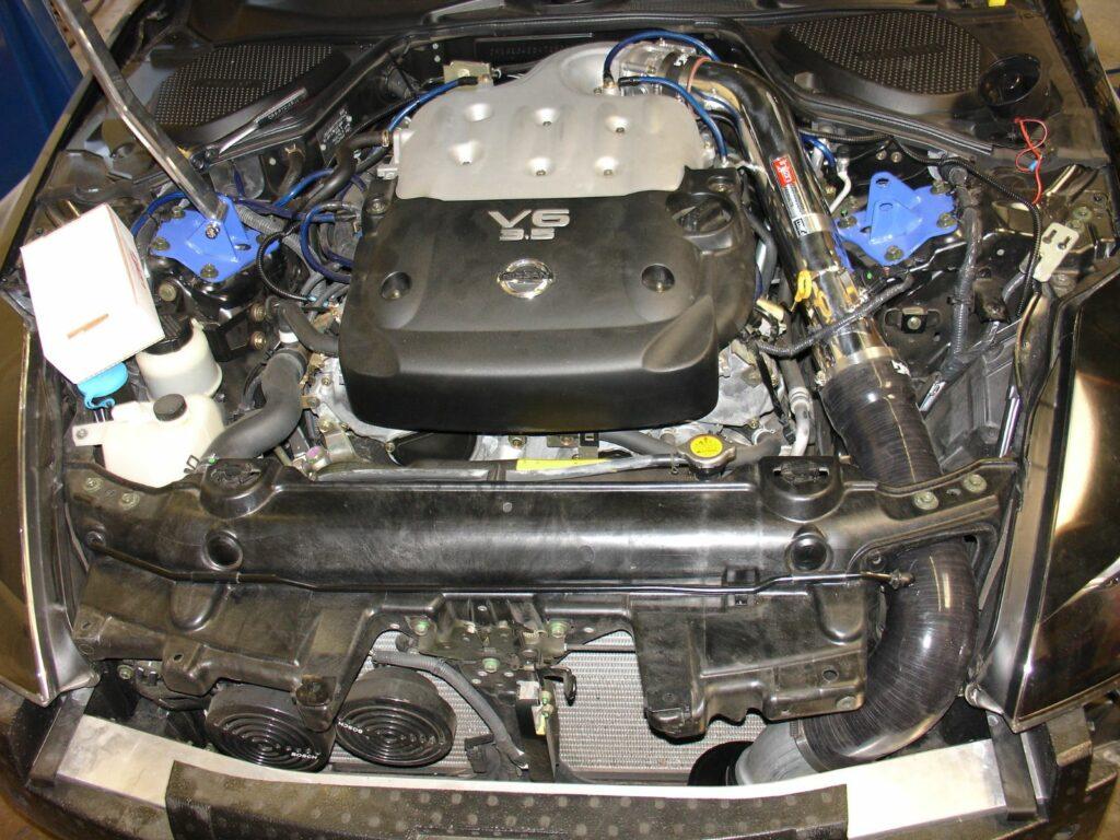 Injen Technology SP1986P Polished Mega Ram on Nissan 350z (Z33)