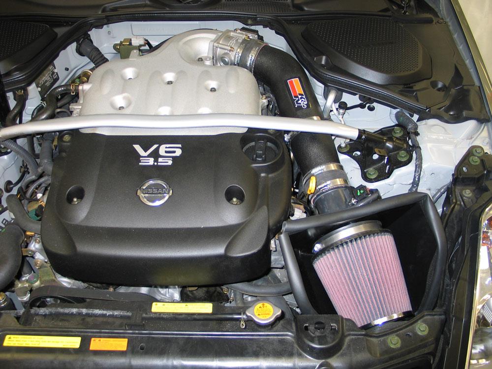 K&N 57-6013 FIPK installed on Nissan 350z