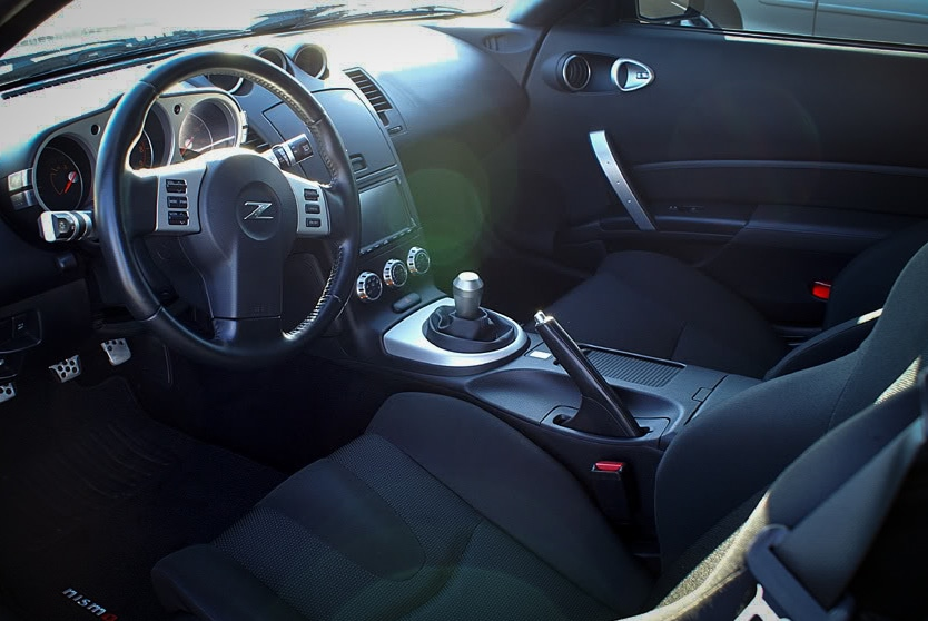 Nissan 350z with short shifter and weighted gear knob
