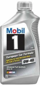 Mobil 1 European Car Formula 0W-40 Engine Oil
