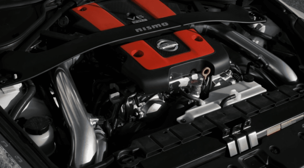 AAM Competition's Nissan 370z twin turbo kit installed
