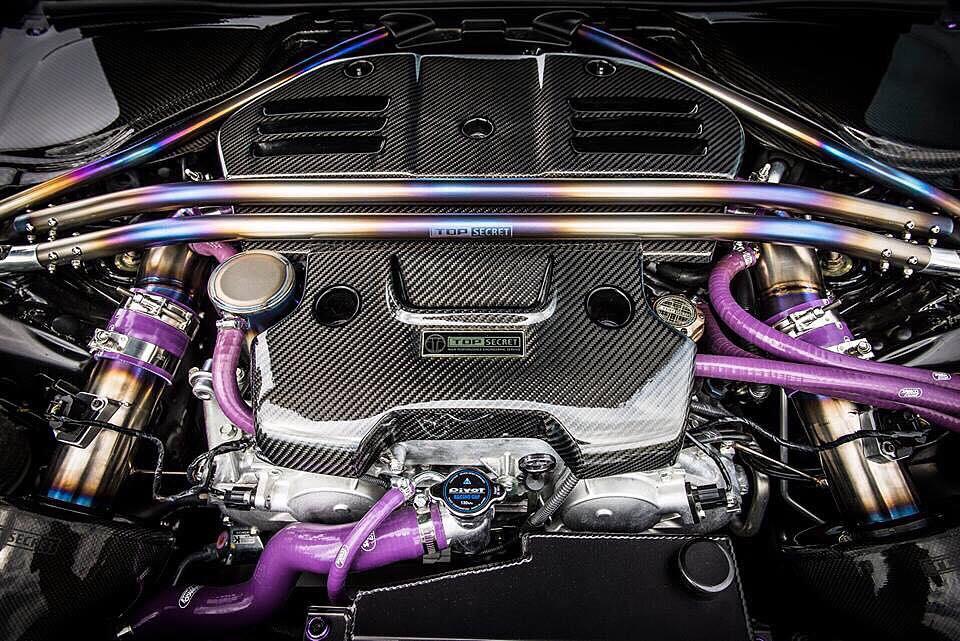 Top Secret's Titanium Strut Bar for the Nissan 370z (Z34)