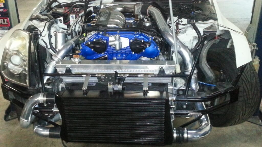 SFR's 350z Turbo Kit Installed