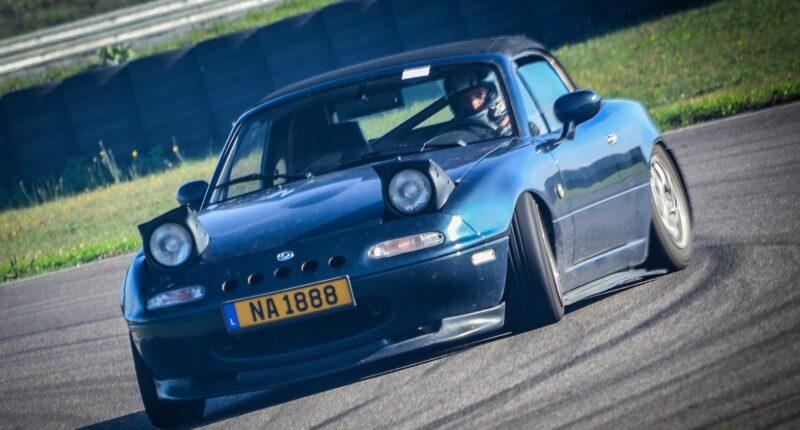 Mazda Miata drifting