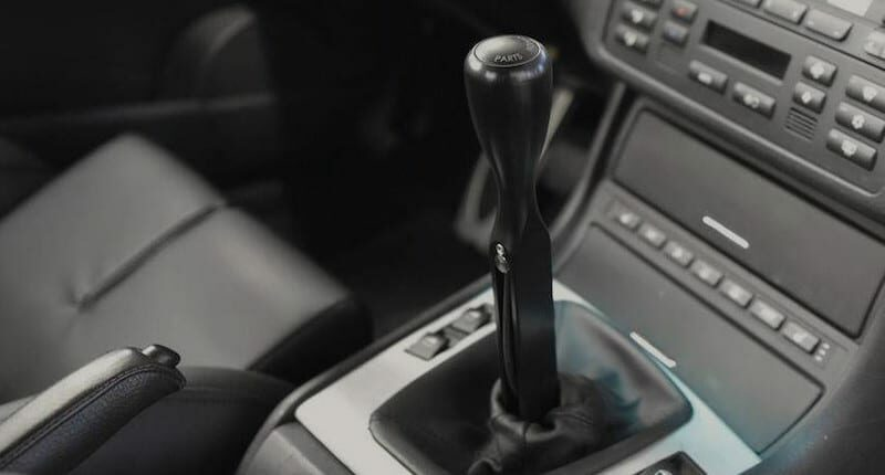 Short throw shifter installed